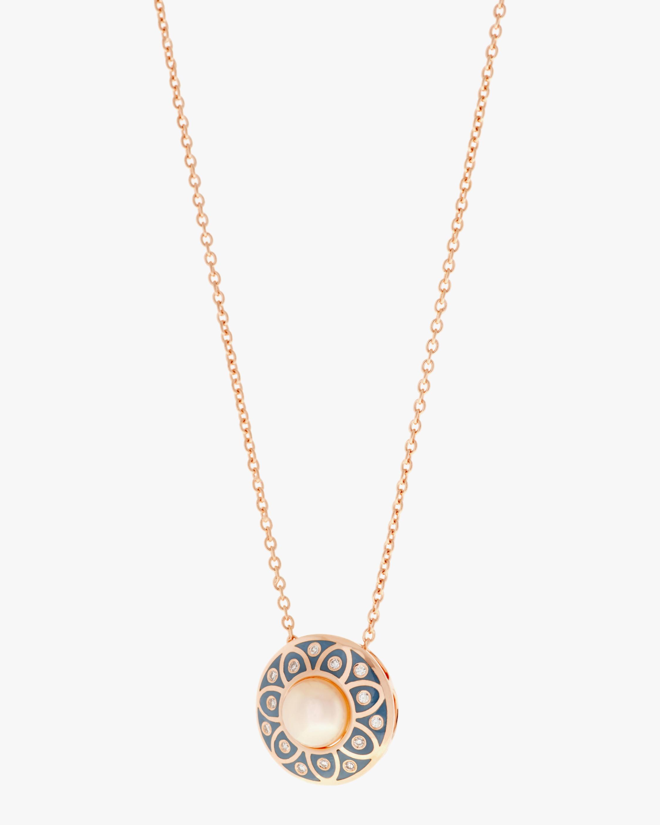 Selim Mouzannar Diamond & Pearl Pendant Necklace 0