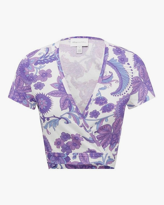 Alice McCall Blueberry Nights Crop Top 0