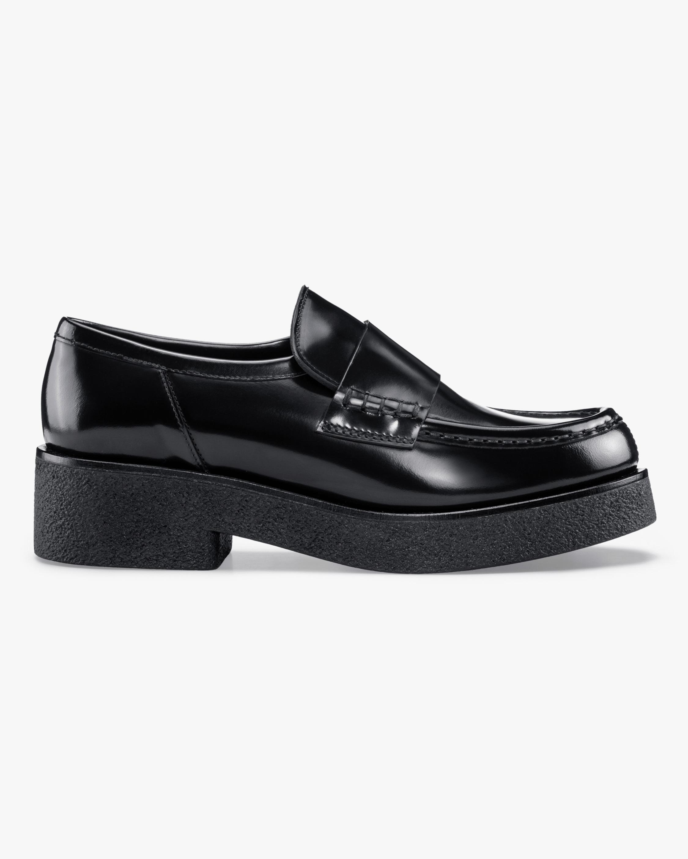 KOIO Glossed Black Bari Leather Loafer 0
