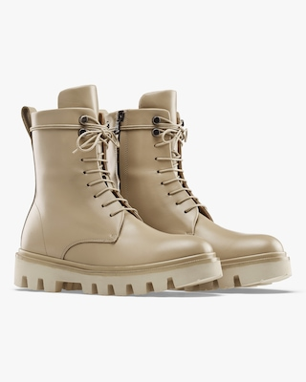 KOIO Sandalwood Cortina Leather Combat Boot 2