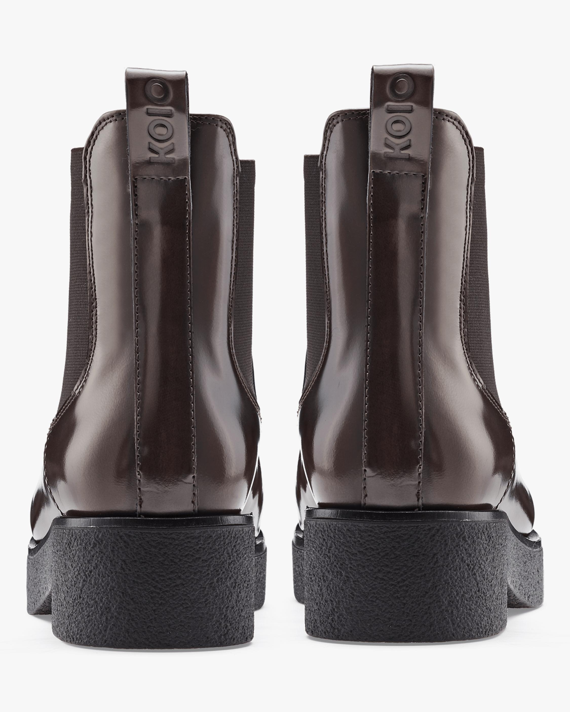 KOIO Glossed Walnut Novara Leather Chelsea Boot 3