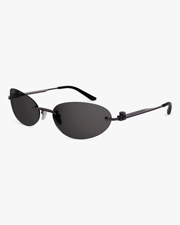 Balenciaga Black Oval Sunglasses 2