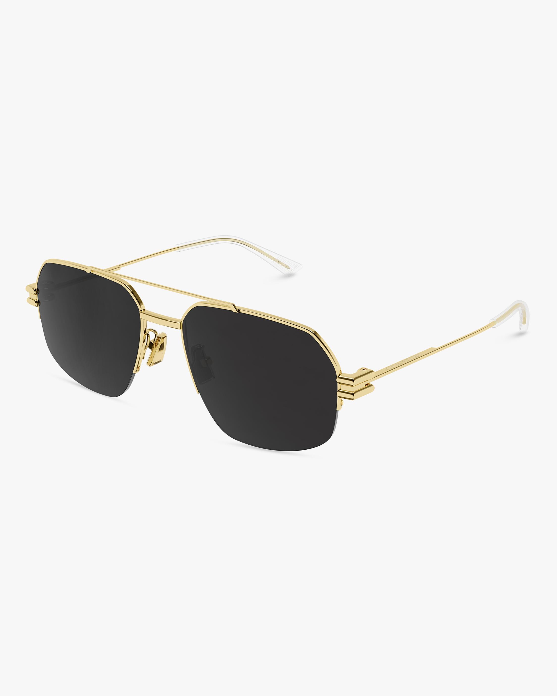 Bottega Veneta Gold Navigator Sunglasses 0