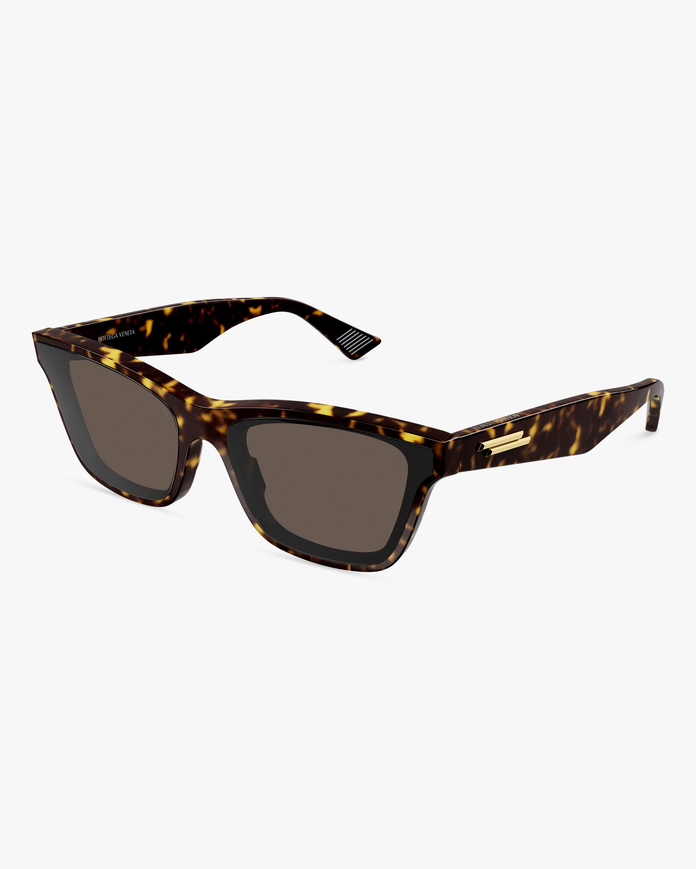 Bottega Veneta Havana Cat-Eye Sunglasses 0