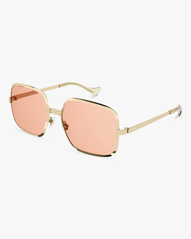 Gucci Gold Square Sunglasses 2