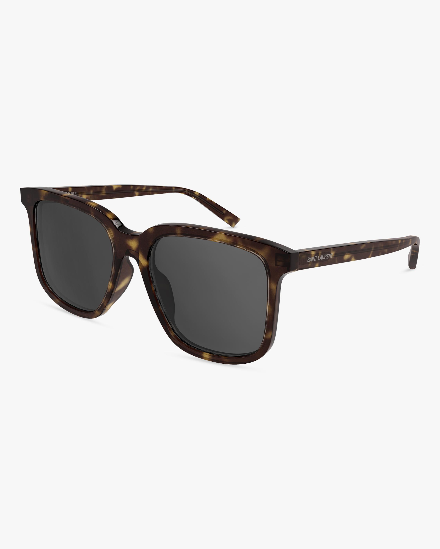 Saint Laurent Havana Square Sunglasses 0