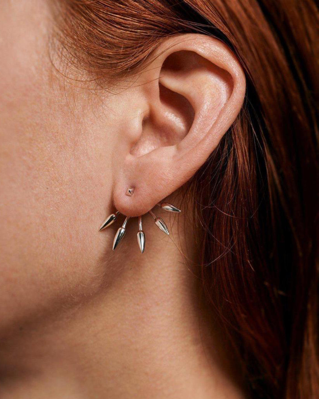 Pamela Love Five Spike Earrings 1