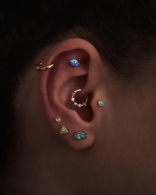 Pamela Love Single Floating Diamond Clicker Earring 1
