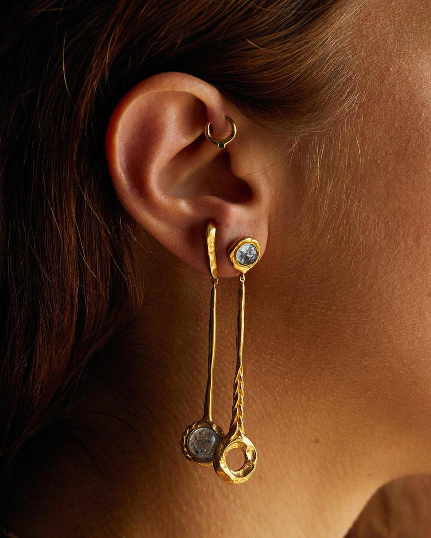 Pamela Love Mismatched Braided Earrings 1