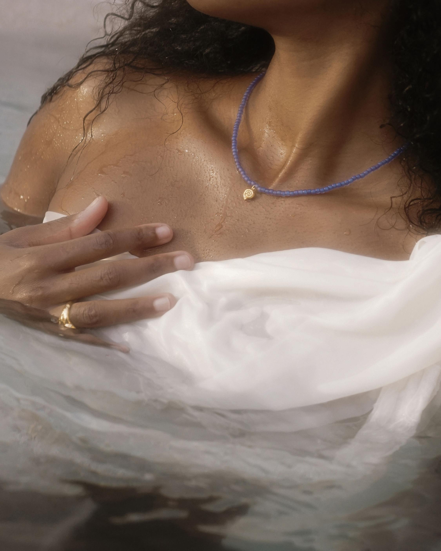 Pamela Love Nautilus Beaded Necklace 1