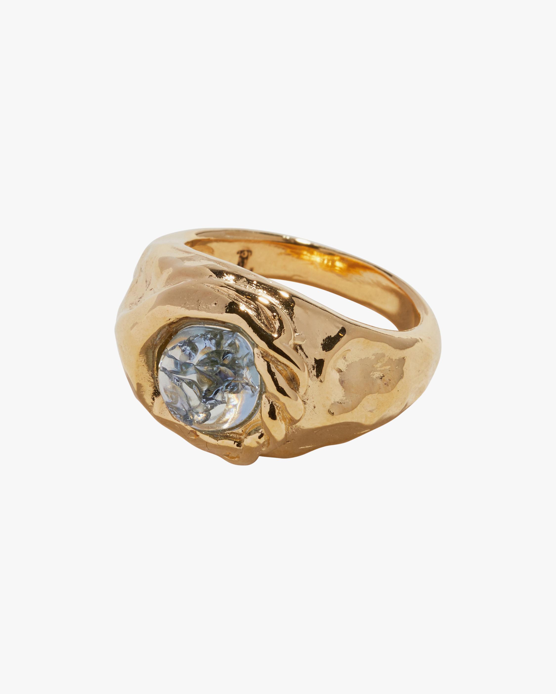 Pamela Love Braided Stone Signet Ring 1