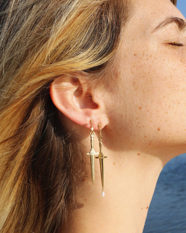 Pamela Love Dagger Earrings 2