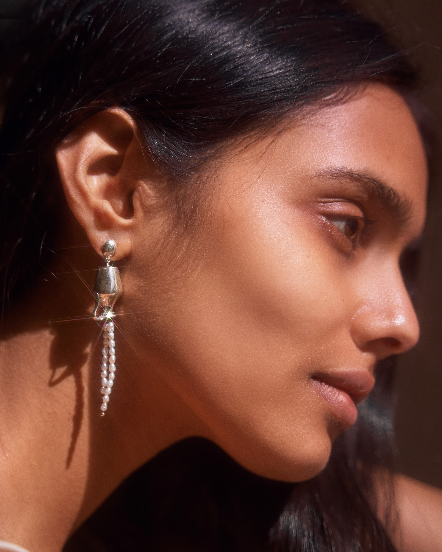 Pamela Love Vessel Pearl Earrings 2