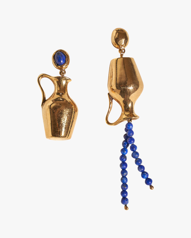 Pamela Love Vessel Lapis Earrings 0