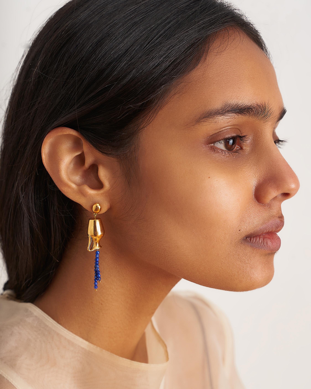 Pamela Love Vessel Lapis Earrings 2