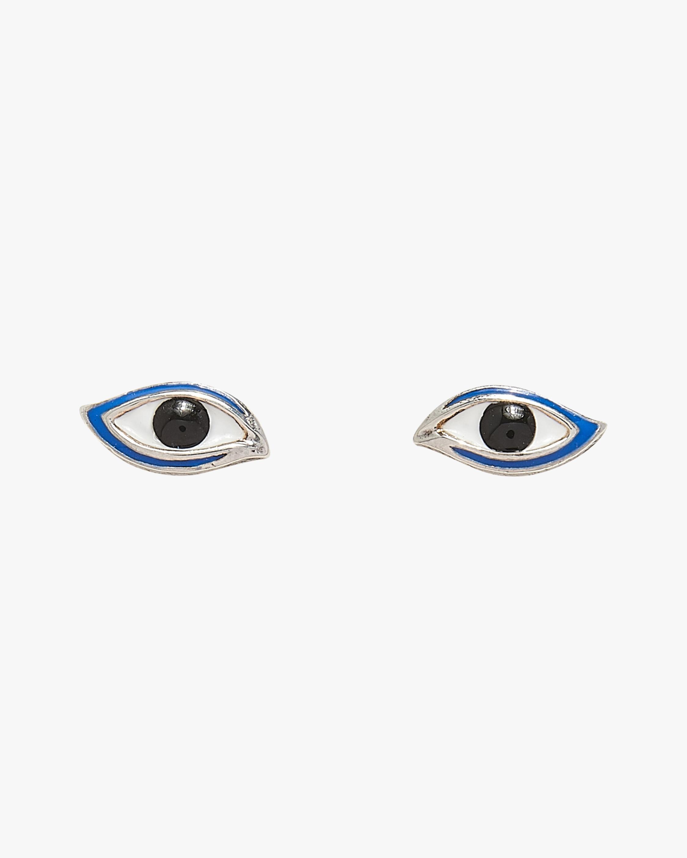 Pamela Love Enamel Eye Stud Earrings 0
