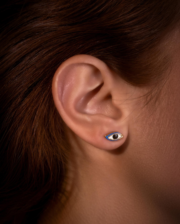 Pamela Love Enamel Eye Stud Earrings 1