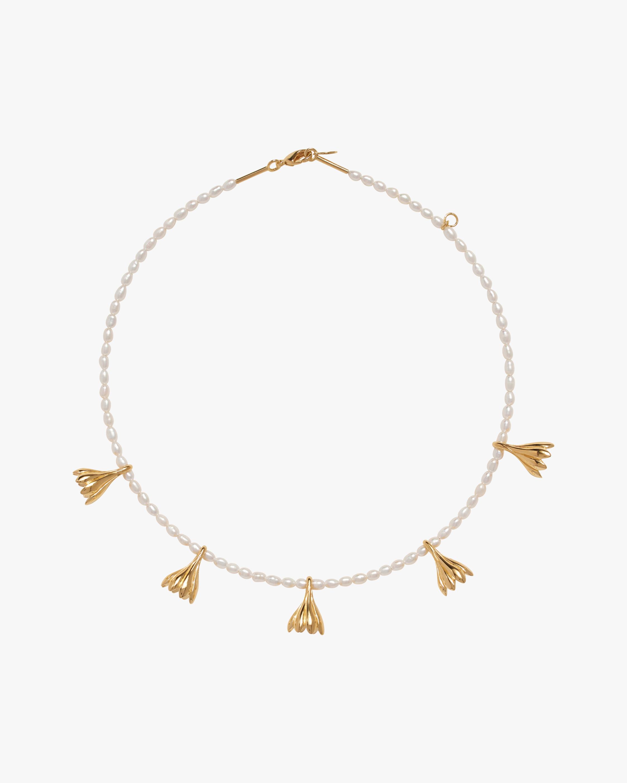 Pamela Love Anemone Pearl Station Necklace 2