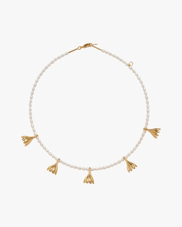 Pamela Love Anemone Pearl Station Necklace 0