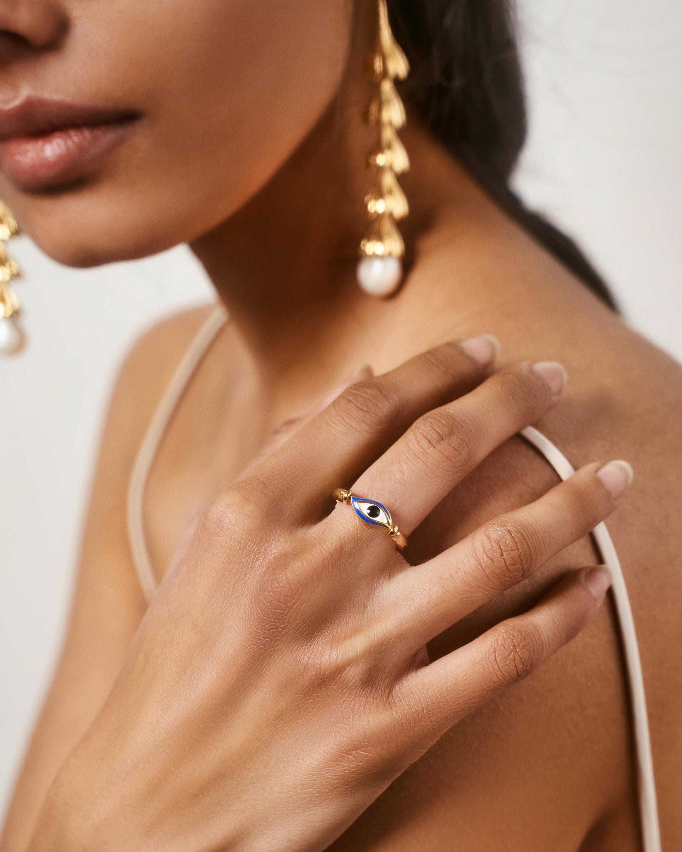 Pamela Love Enamel Eye Ring 2