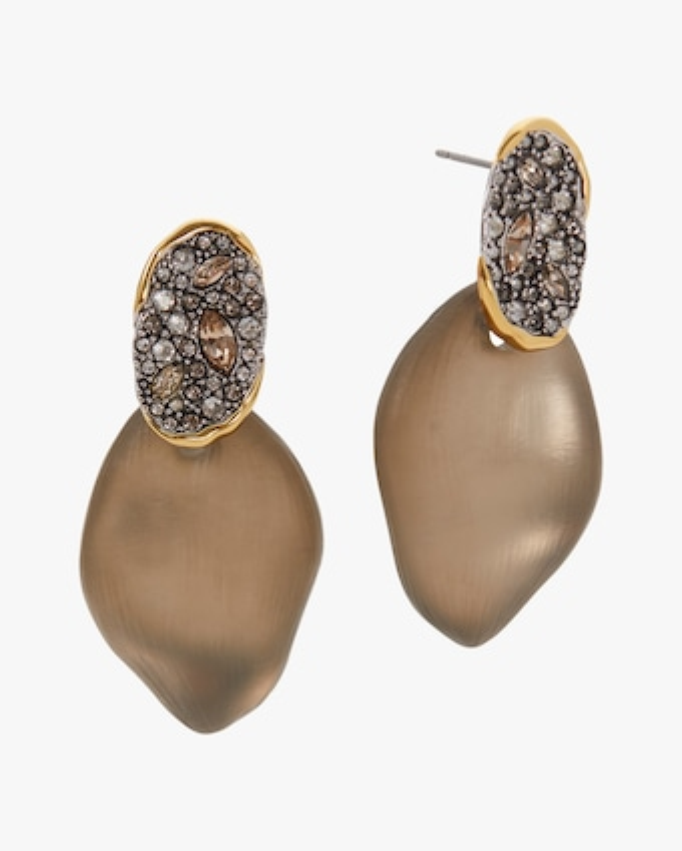 Alexis Bittar Solanales Crystal Lake Petal Earrings 2