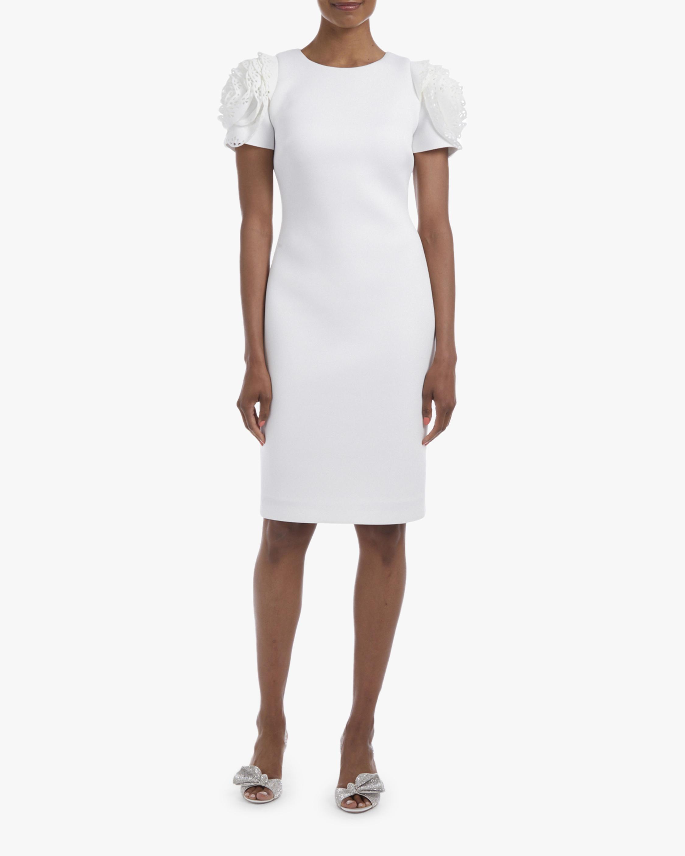 Badgley Mischka Rosette-Sleeve Mini Dress 1