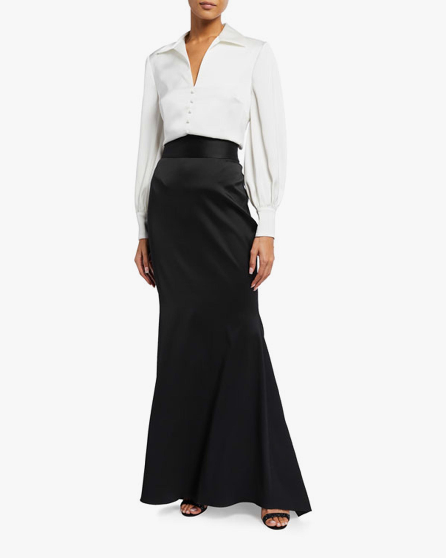 Badgley Mischka Ruched-Side Skirt 1