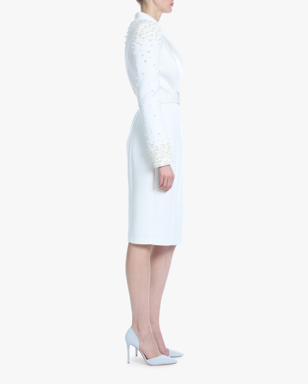 Badgley Mischka Pearl-Embellished Cocktail Dress 2