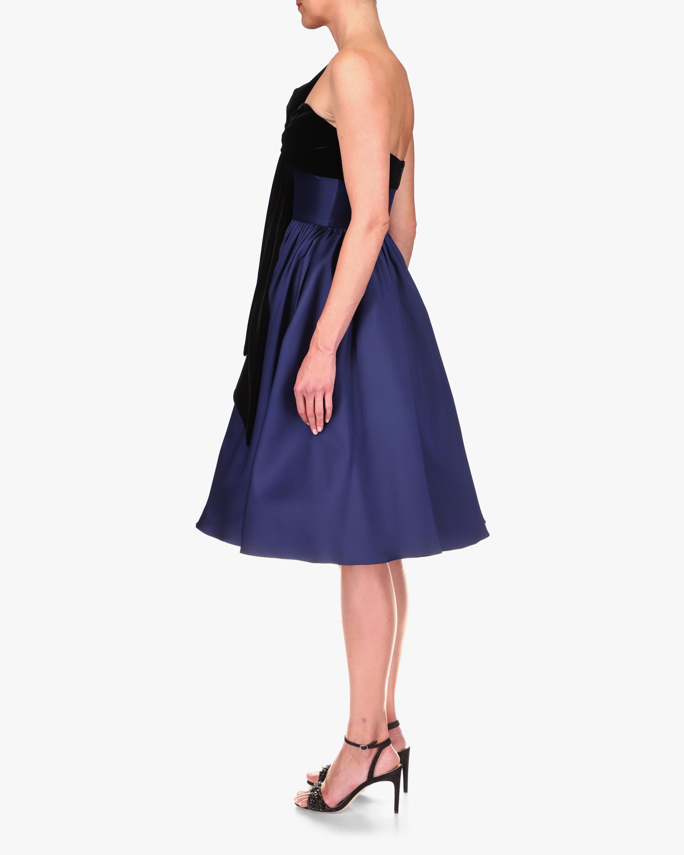 Badgley Mischka Velvet-Bow Cocktail Dress 2