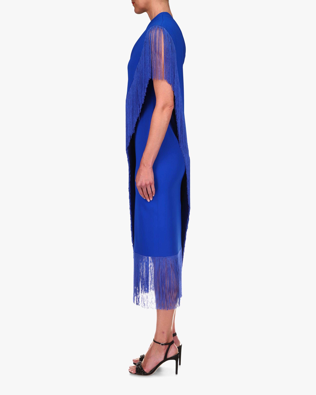 Badgley Mischka Fringe One-Shoulder Dress 2
