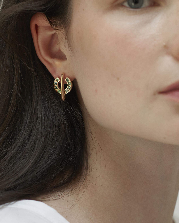 Jolly Bijou Amethyst Sundial Earrings 1