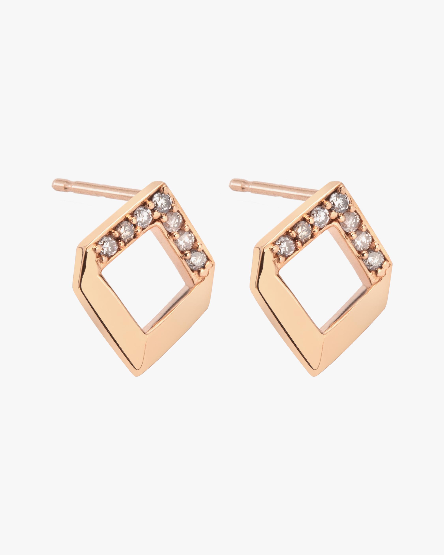 Jolly Bijou Diamond Chevron Earrings 0