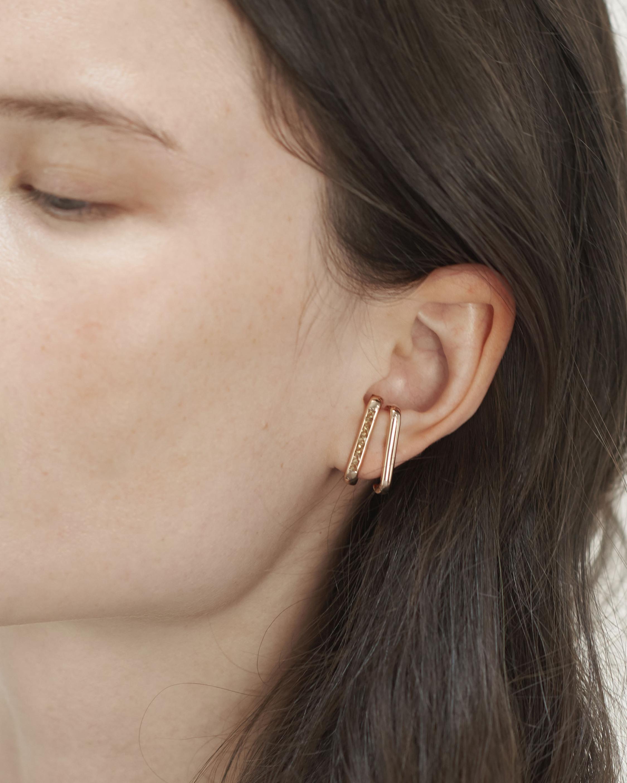 Jolly Bijou Tsavorite Barre Ear Cuffs 1