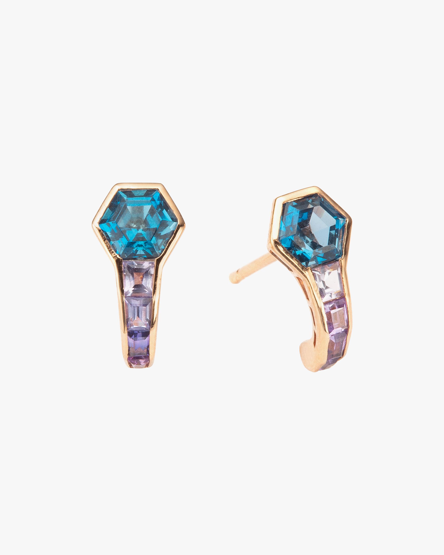Jolly Bijou Topaz & Sapphire Pod Earrings 1