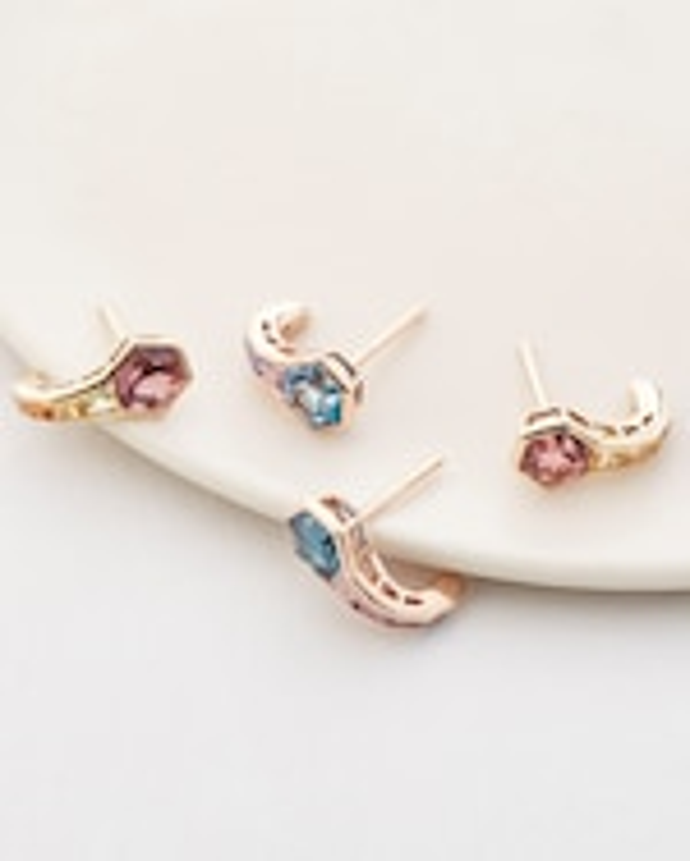 Jolly Bijou Topaz & Sapphire Pod Earrings 2