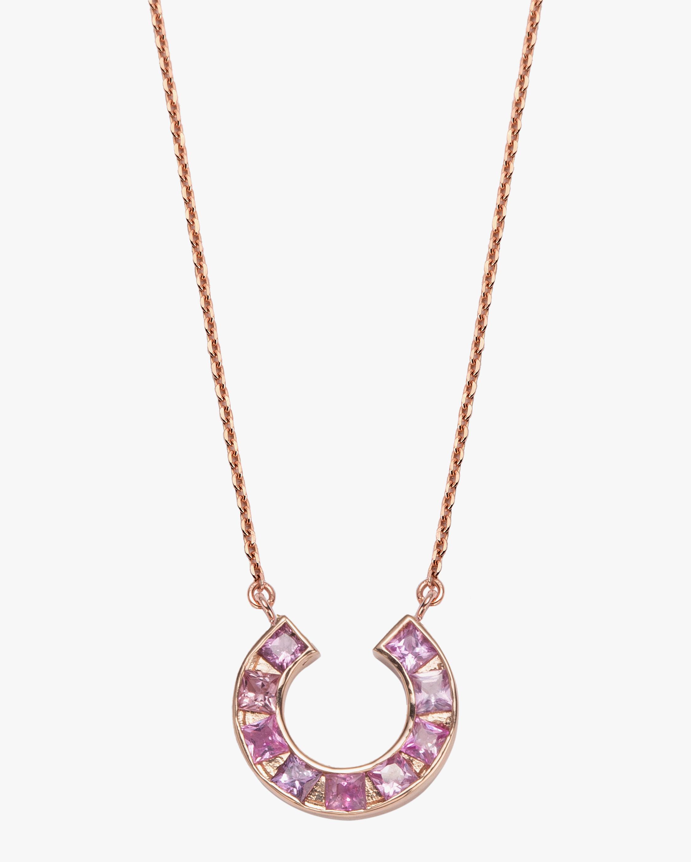 Jolly Bijou Sapphire Sundial Pendant Necklace 1