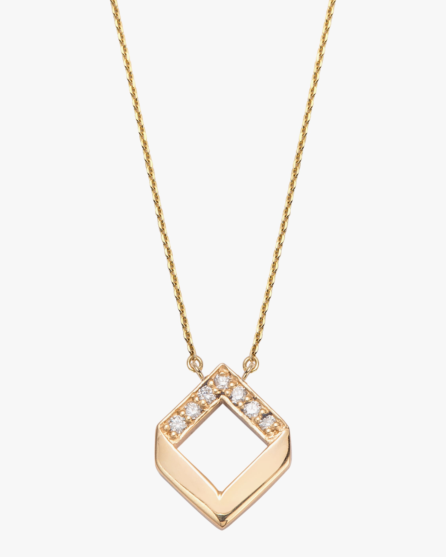 Jolly Bijou Diamond Chevron Pendant Necklace 1