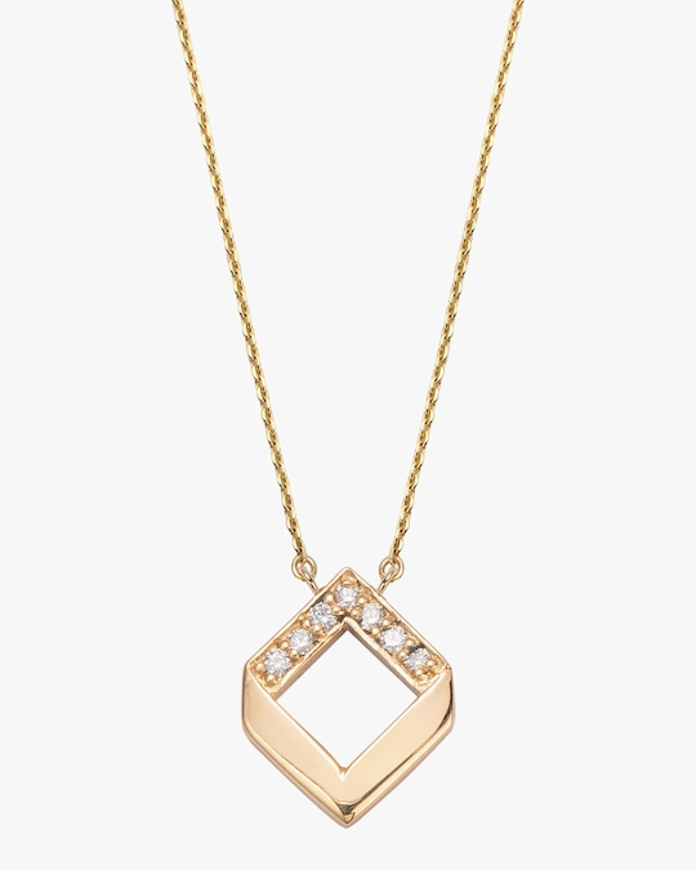 Jolly Bijou Diamond Chevron Pendant Necklace 0