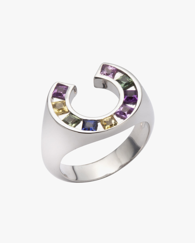 Jolly Bijou Multicolor Sapphire Sundial Ring 1