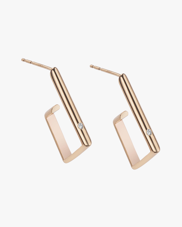 Jolly Bijou Diamond Open-Square Earrings 2