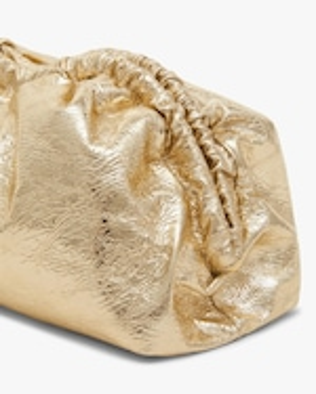 Mansur Gavriel Crackled Metallic Cloud Clutch 3
