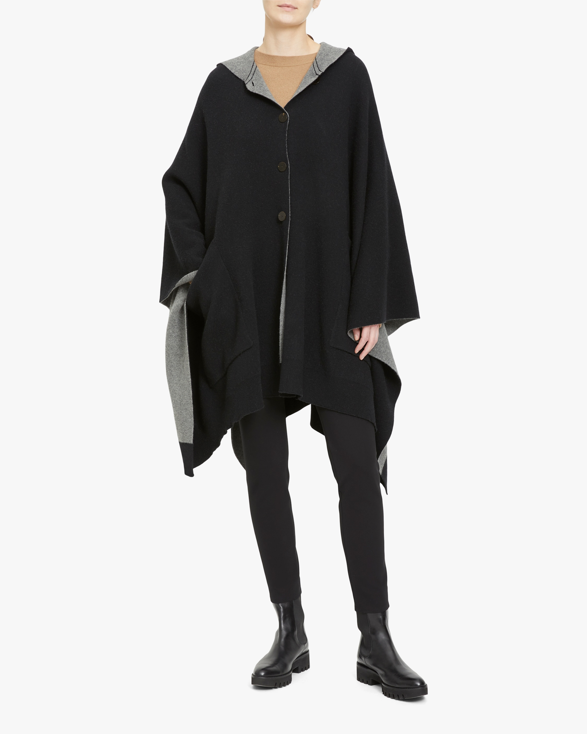 Theory Felted Hooded Poncho 2