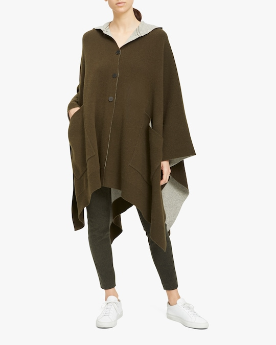 Theory Felted Hooded Poncho 1