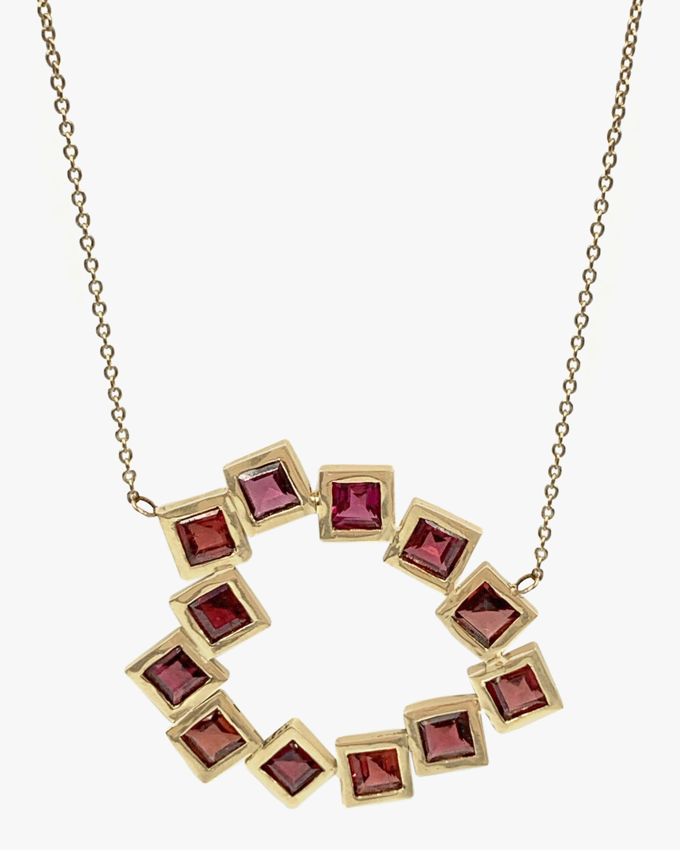 Leslie Paige Garnet Heart Pendant Necklace 1