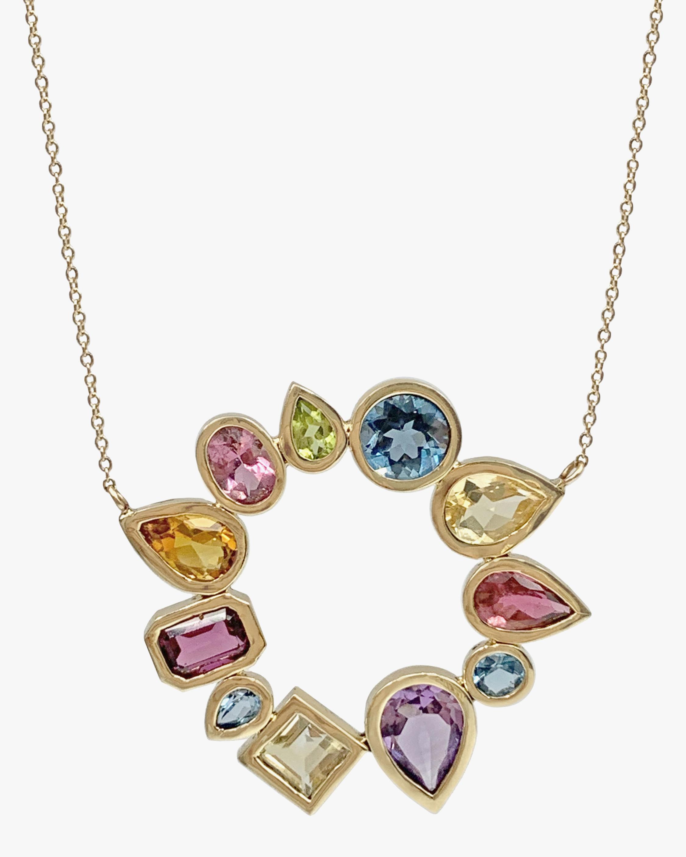 Leslie Paige Gemstone Open Cluster Pendant Necklace 0