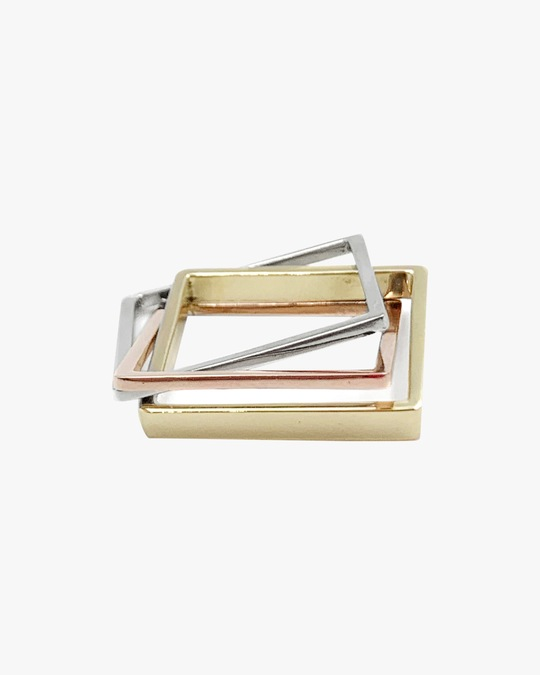 Leslie Paige Three-Band Puzzle Ring Set 0