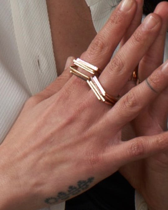 Leslie Paige Three-Band Puzzle Ring Set 1