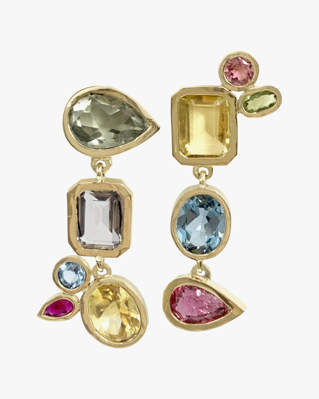 Leslie Paige Gemstone Dangle Bezel Earrings 1