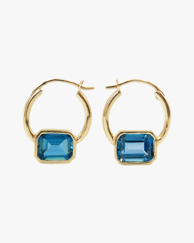 Leslie Paige Topaz Bezel Hoop Earrings 1