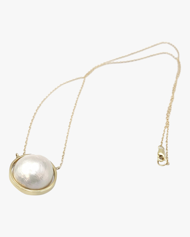 Leslie Paige Pearl Bezel-Set Pendant Necklace 2